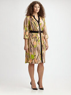 Anna Scholz, Salon Z - Floral-Print Shirtdress