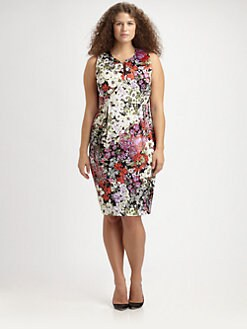 Anna Scholz, Salon Z - Floral-Print Sheath Dress