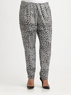 Anna Scholz, Salon Z - Daisy-Print Pleated Trousers
