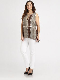 Sheri Bodell, Salon Z - Metal-Trim Blouse