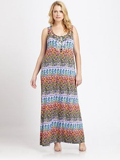 T-bags Los Angeles, Salon Z - Beaded Tank Maxi Dress