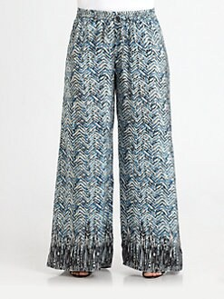 Tolani, Salon Z - Printed Silk Palazzo Pants