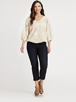 Sheri Bodell, Salon Z - Cotton Fellini Lace Blouse