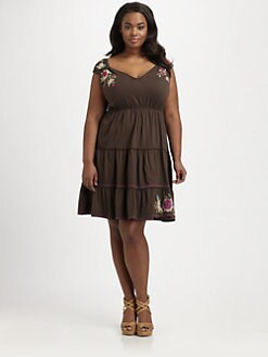 Johnny Was, Salon Z - Landon Tiered-Hem Dress