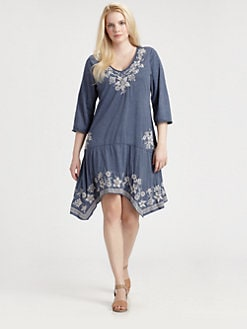 Johnny Was, Salon Z - Tess Embroidered Dress