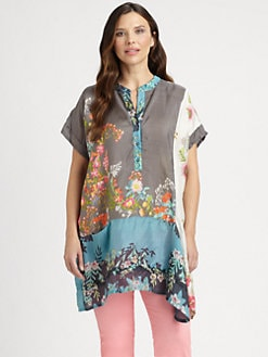 Johnny Was, Salon Z - Silk Patchwork Tunic