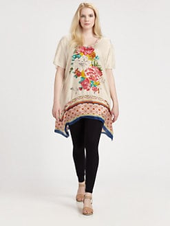 Johnny Was, Salon Z - Silk Border-Hem Tunic