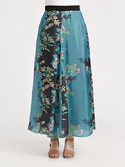 Johnny Was, Salon Z - Silk Maxi Skirt