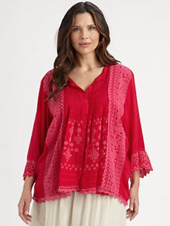 Johnny Was, Salon Z - Pintucked Tunic
