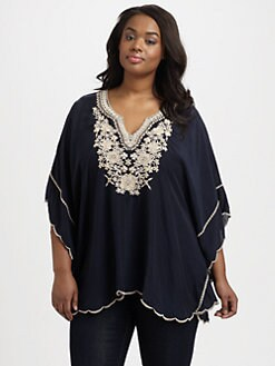 Johnny Was, Salon Z - Embroidered Poncho