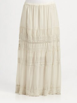 Johnny Was, Salon Z - Tiered Maxi Skirt