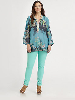 Johnny Was, Salon Z - Silk Dolman Top