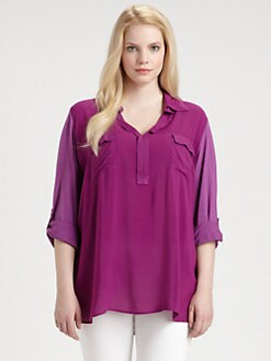 Splendid, Salon Z - Point-Collar Pullover Top
