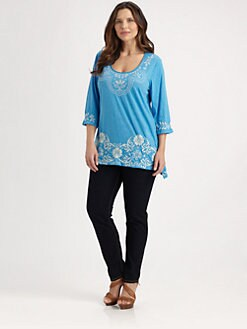 Johnny Was, Salon Z - Jen Embroidered Tunic