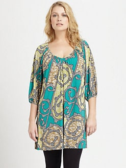 T-bags Los Angeles, Salon Z - Printed Dolman Tunic