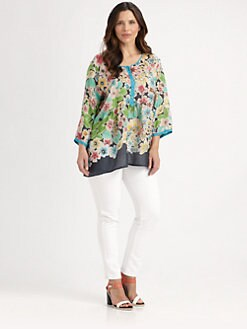 Johnny Was, Salon Z - Silk Floral Top
