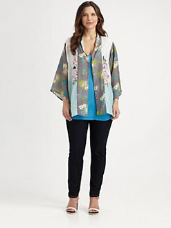 Johnny Was, Salon Z - Floral-Print Kimono Top