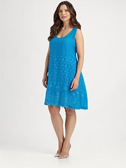 Johnny Was, Salon Z - Eyelet-Detail Tank Dress