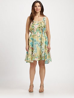 Johnny Was, Salon Z - Silk Floral-Print Tank Dress