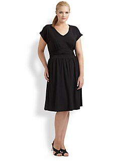 Splendid, Salon Z - V-Neck Jersey Dress