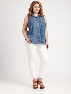 Splendid, Salon Z - Ditzy Chambray Tank Top