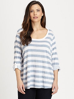 Splendid, Salon Z - Marseille Chambray Striped Top