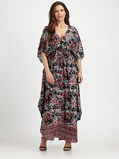 Tolani, Salon Z - Silk Print Caftan