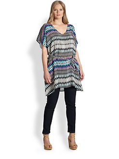 Tolani, Salon Z - Silk BeltedTunic