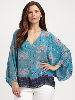 Tolani, Salon Z - Samantha Printed Silk Tunic