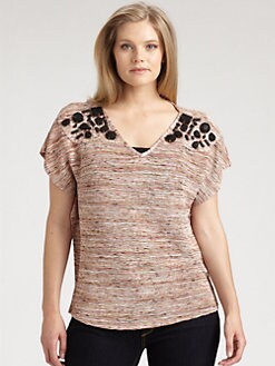 T-bags Los Angeles, Salon Z - Embellished Knit Top