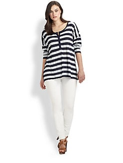 Splendid, Salon Z - Striped Jersey Henley