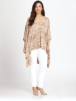 Rachel Pally, Salon Z - Tie-Dyed Poncho Top