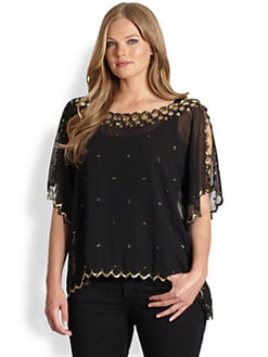 T-bags Los Angeles, Salon Z - Sequin-Detail Chiffon Top
