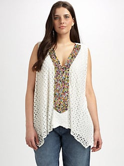 T-bags Los Angeles, Salon Z - Bead-Embellished Swing Top