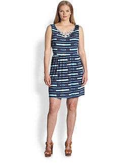 T-bags Los Angeles, Salon Z - Jeweled-Neck Sheath Dress