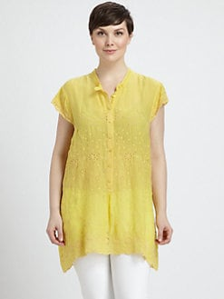 Johnny Was, Salon Z - Eyelet-Detail Top