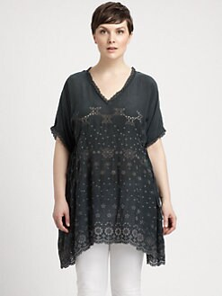 Johnny Was, Salon Z - Embroidered V-Neck Tunic