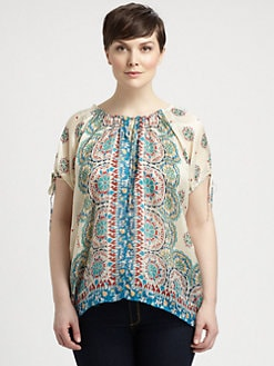 Johnny Was, Salon Z - Silk Carnival Blouse