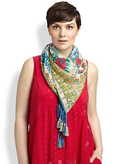 Johnny Was, Salon Z - Silk Phoenix Scarf