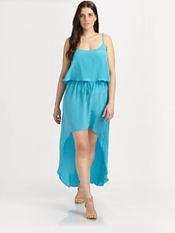 Single, Salon Z - High-Low Silk Dress