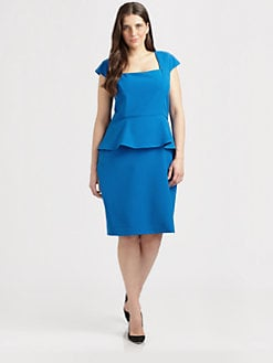 Single, Salon Z - Gabardine Peplum Dress