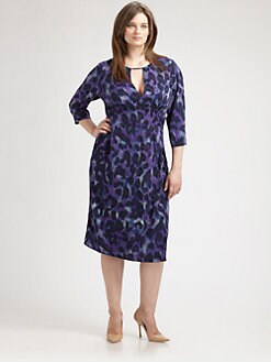 Anna Scholz, Salon Z - Printed Keyhole Dress