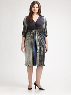 Anna Scholz, Salon Z - Printed Empire-Waist Dress