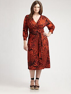 Anna Scholz, Salon Z - Printed Wrap Dress