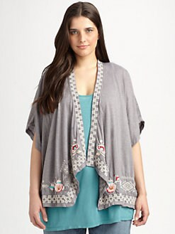 Johnny Was, Salon Z - Draped Poncho Cardigan