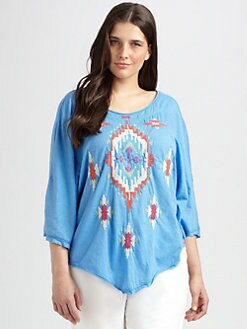 Johnny Was, Salon Z - Poncho V-Back Top