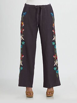 Johnny Was, Salon Z - Wide-Leg Linen Pants