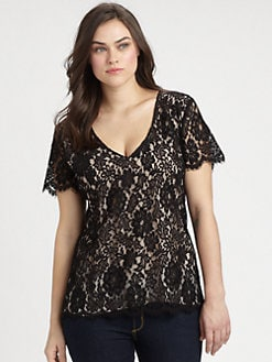Single, Salon Z - Lace-Front Top