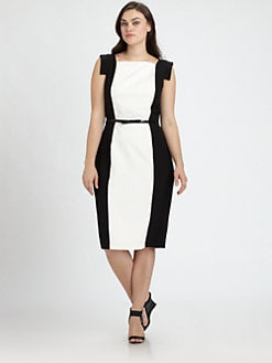 Single, Salon Z - Two-Tone Sheath Dress