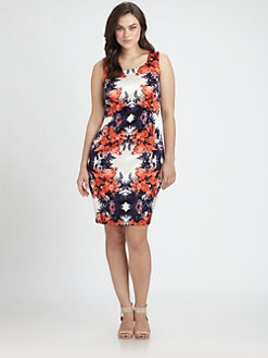 Single, Salon Z - Floral Print Silk Dress